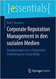 Book Cover: Corporate Reputation Management in den sozialen Medien