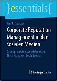 Book Cover: Corporate Reputation Management in den sozialen Medien